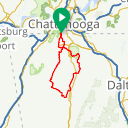 Map image of a Route from March 26, 2017