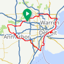 Map image of a Route from March 29, 2017