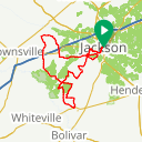 Map image of a Route from March 30, 2017