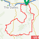 Map image of a Route from April  2, 2017