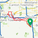 Map image of a Route from April  3, 2017