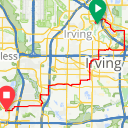 Map image of a Route from April  4, 2017