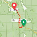 Map image of a Route from April  5, 2017
