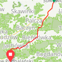Map image of a Route from April  7, 2017
