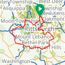 Map image of a Route from April  9, 2017