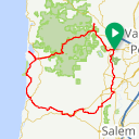 Map image of a Route from April 13, 2017