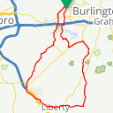 Map image of a Route from December 31, 2012