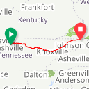 Map image of a Route from January  1, 2013