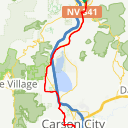Map image of a Route from April 15, 2017