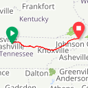Map image of a Route from January  2, 2013