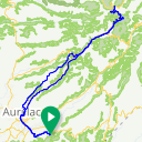 Map image of a Route from April 16, 2017