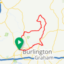 Map image of a Route from January  3, 2013