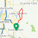 Map image of a Route from April 17, 2017