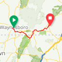 Map image of a Route from April 18, 2017