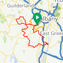 Map image of a Route from April 19, 2017