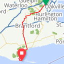 Map image of a Route from April 21, 2017