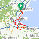 Map image of a Route from April 22, 2017