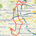 Map image of a Route from April 23, 2017