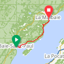 Map image of a Route from April 25, 2017