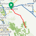 Map image of a Route from April 26, 2017
