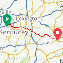 Map image of a Route from April 27, 2017