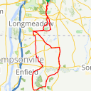 Map image of a Route from April 30, 2017