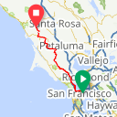 Map image of a Route from May  5, 2017