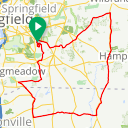 Map image of a Route from May  8, 2017