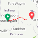 Map image of a Route from May 17, 2017