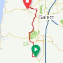 Map image of a Route from May 26, 2017