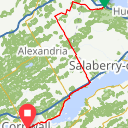 Map image of a Route from February 17, 2013