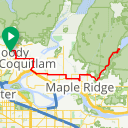 Map image of a Route from May 27, 2017