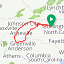 Map image of a Route from May 31, 2017