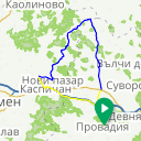 Map image of a Route from June  2, 2017