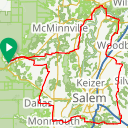 Map image of a Route from June  6, 2017