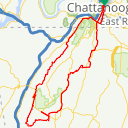 Map image of a Route from June  8, 2017