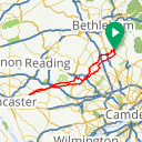 Map image of a Route from June 10, 2017