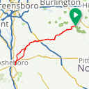 Map image of a Route from June 11, 2017