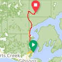Map image of a Route from June 12, 2017