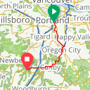 Map image of a Route from June 13, 2017