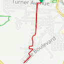 Map image of a Route from June 14, 2017