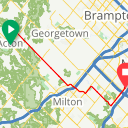 Map image of a Route from June 15, 2017