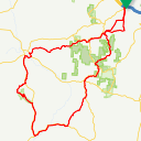 Map image of a Route from June 18, 2017