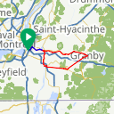 Map image of a Route from June 20, 2017