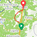 Map image of a Route from June 21, 2017