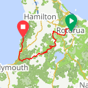 Map image of a Route from June 26, 2017