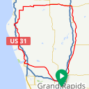 Map image of a Route from June 29, 2017