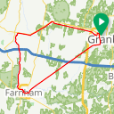 Map image of a Route from June 30, 2017