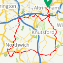 Map image of a Route from July  1, 2017