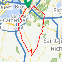Map image of a Route from July  5, 2017